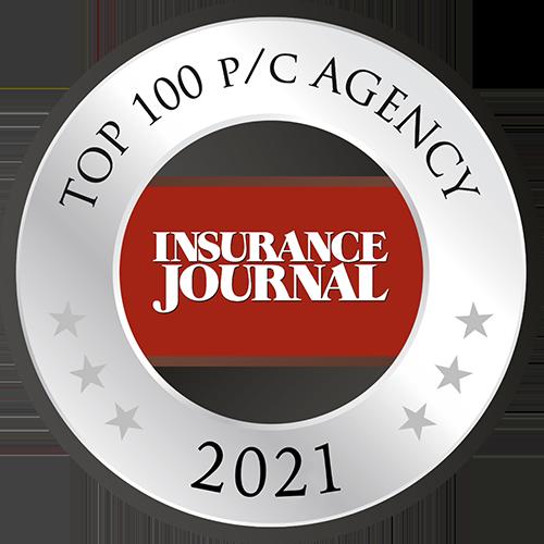 Insurance Journal Top 100 P/C Agency 2021 Badge